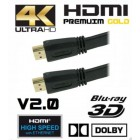 HDMI Flat Cable 1.5M for HDTV Gold Plated High Speed Supports Full HD Ultra HD 4Kx2K Xbox360 PS3 Blu Ray