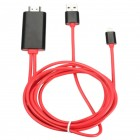 Lightning to AV HDMI HDTV TV Cable Adaptor for Apple iPad iPhone 5S 6 6S 2M Movies Video Photo on TV