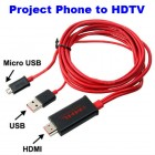 MHL Micro USB to HDMI Cable Mirror Mobile Device to HDTV