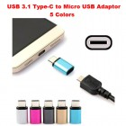 USB 3.1 Type-C to Micro USB Adaptor 5 Colours for Charging Data Sync Transfer