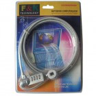 Notebook Laptop Computer Lock Cable Chain with Combination Lock