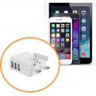 3 Pin USB Charger with 3 Ports for Fast Charging