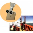 CATLENS - Universal 3-in-1 Clip-On Lens Fisheye Macro Wide-Angle Camera Effects for Phones & Tablets