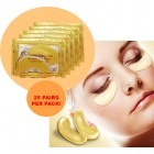 Collagen Gold Moisturizing and Anti-Wrinkle Facial Eye Mask - 25 pairs/pack