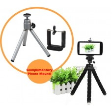 Mini 2-in-1 Tripod for Cameras & Phones + FREE Universal Phone Mount