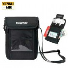 Yipinu Black Travel Bag Secured with Anti-RFID Theft Pouch Holds Tickets Passports Cash Phones Keys etc